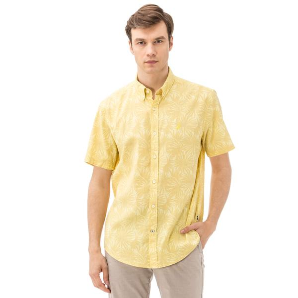 Nautica Erkek Sarı Regular Fit Gömlek