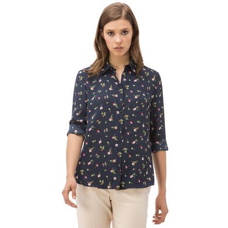Nautica Kadın Lacivert Regular Fit Gömlek