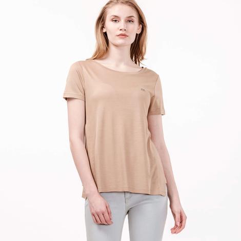 Lacoste Kadın Kahverengi T-Shirt