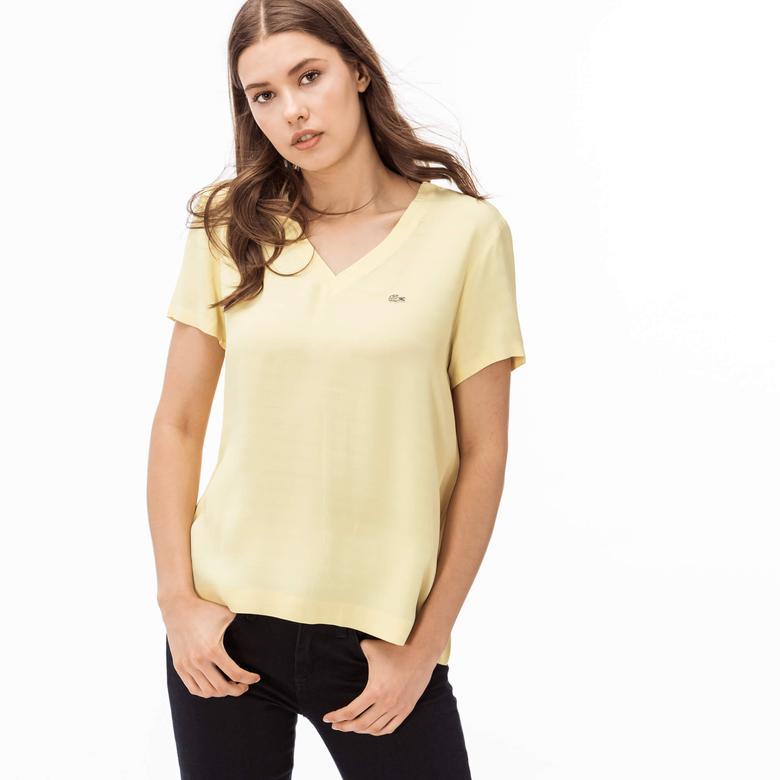 Lacoste Kadın Sarı Bluz