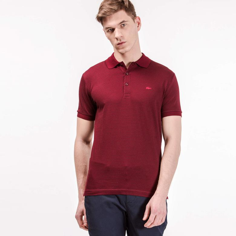 Lacoste Erkek Bordo Regular Fit Polo