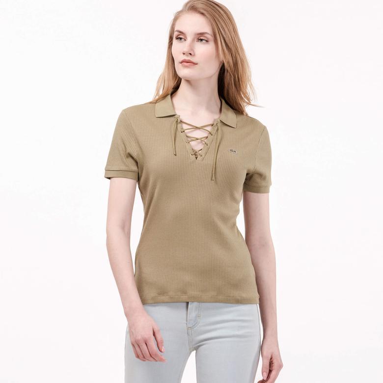 Lacoste Kadın Yeşil Kısa Kollu Polo