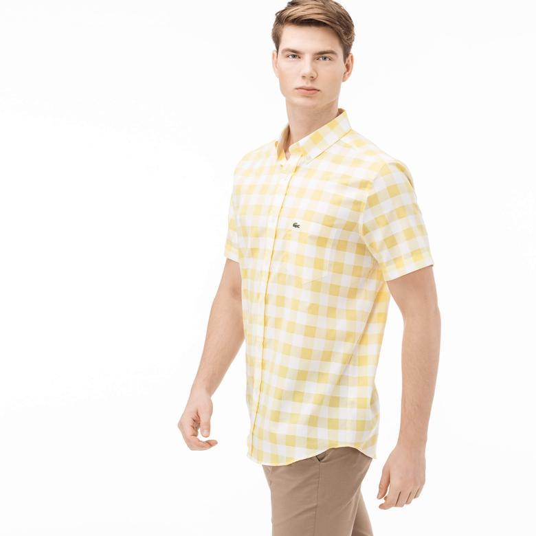 Lacoste Erkek Sarı Regular Fit Gömlek