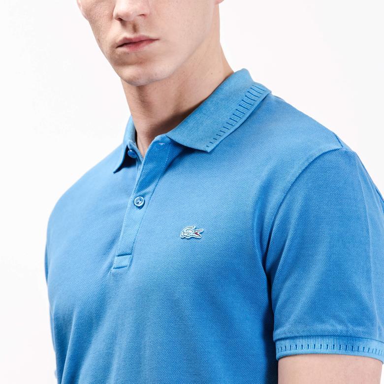 Lacoste Erkek Mavi Slim Fit Polo