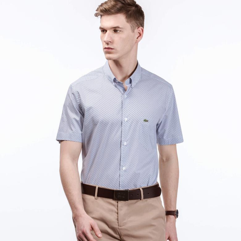 Lacoste Erkek Mavi Regular Fit Gömlek