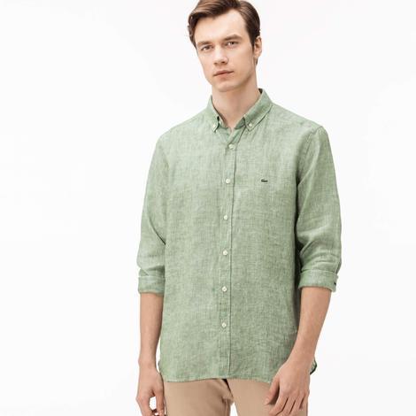 Lacoste Erkek Yeşil Regular Fit Gömlek