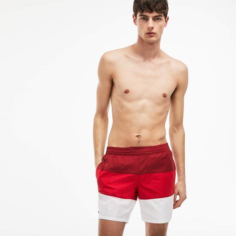 Lacoste Erkek Kırmızı Deniz Şortu
