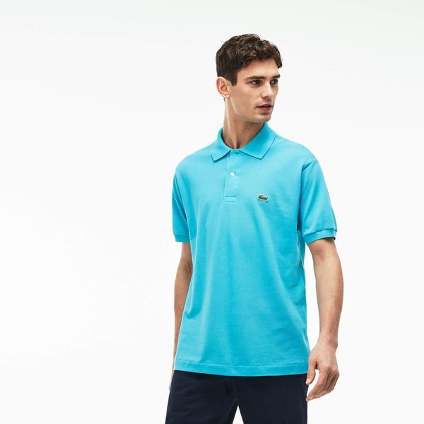 Lacoste Erkek L1212 Klasik Fit Mavi Kısa Kollu Polo