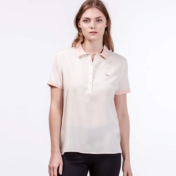 Lacoste Kadın Krem T-Shirt