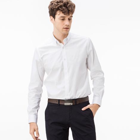 Lacoste Erkek Beyaz Slim Fit Gömlek
