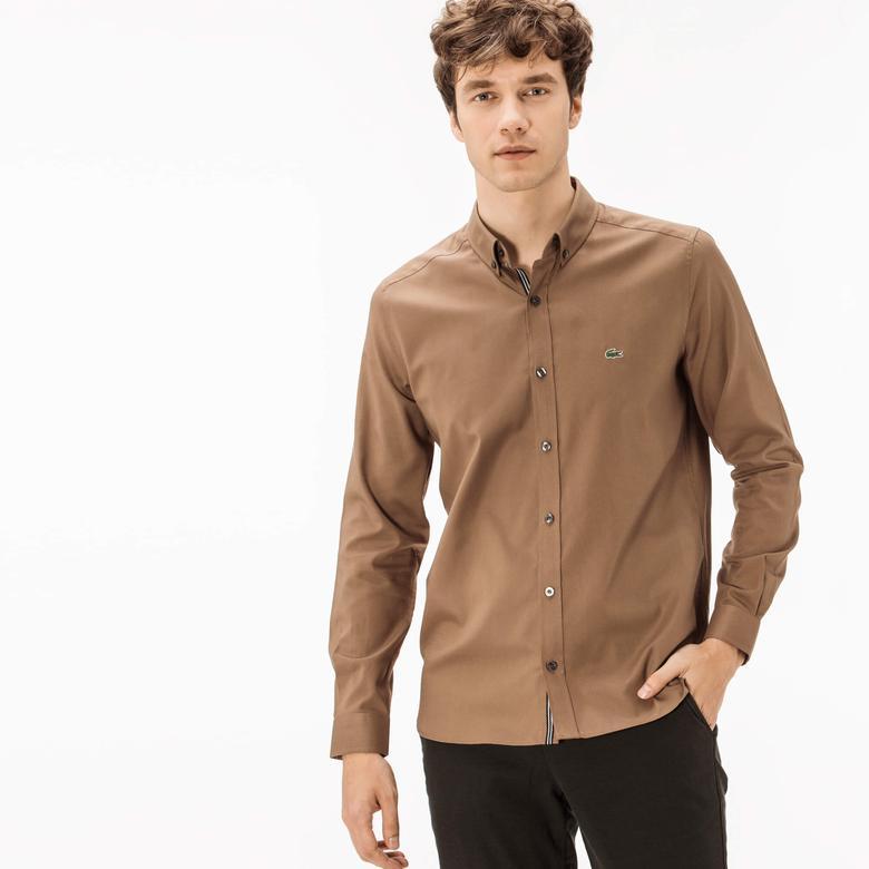 Lacoste Erkek Kahverengi Slim Fit Gömlek
