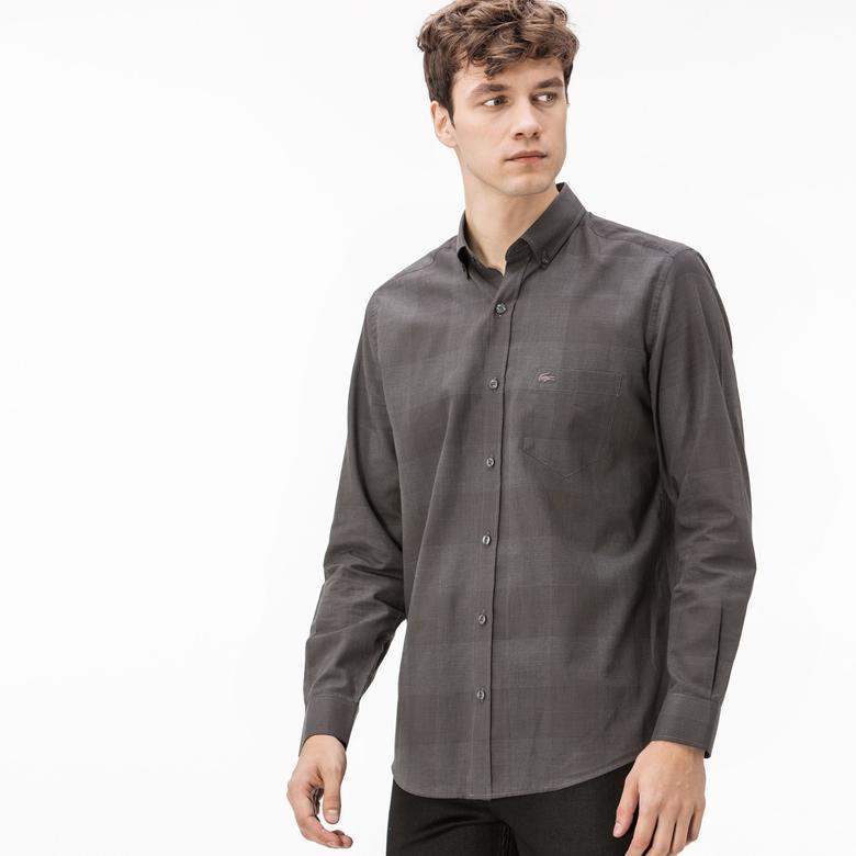Lacoste Erkek Siyah Regular Fit Gömlek