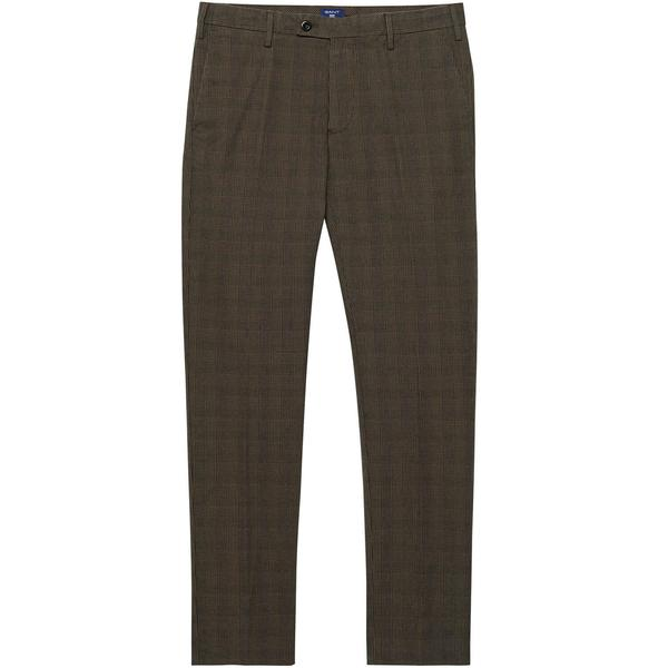 Gant Erkek Kahverengi Ekose Pantolon