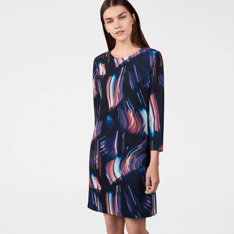 Gant Kadın Desenli Lacivert Elbise
