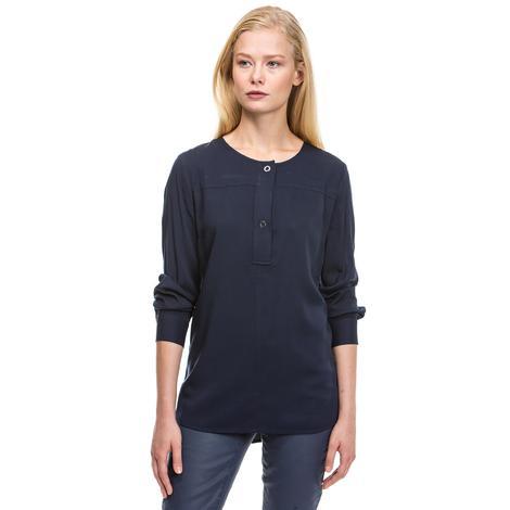 Nautica Kadın Lacivert Uzun Kollu T-Shirt