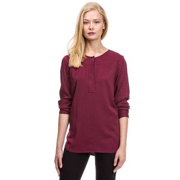 Nautica Kadın Bordo T-Shirt