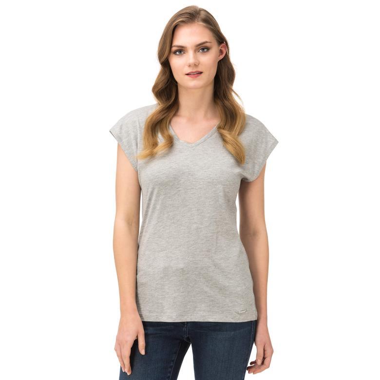 Nautica Kadın Gri T-Shirt