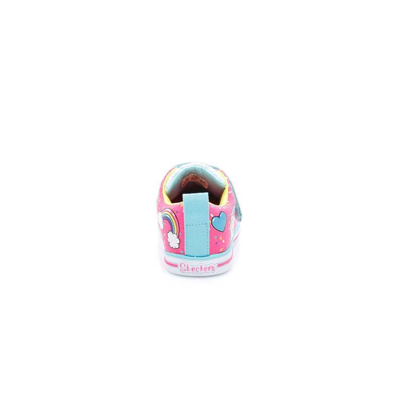 Skechers Twinkle Toes Kız Çocuk Pembe Işıklı Spor Ayakkabı