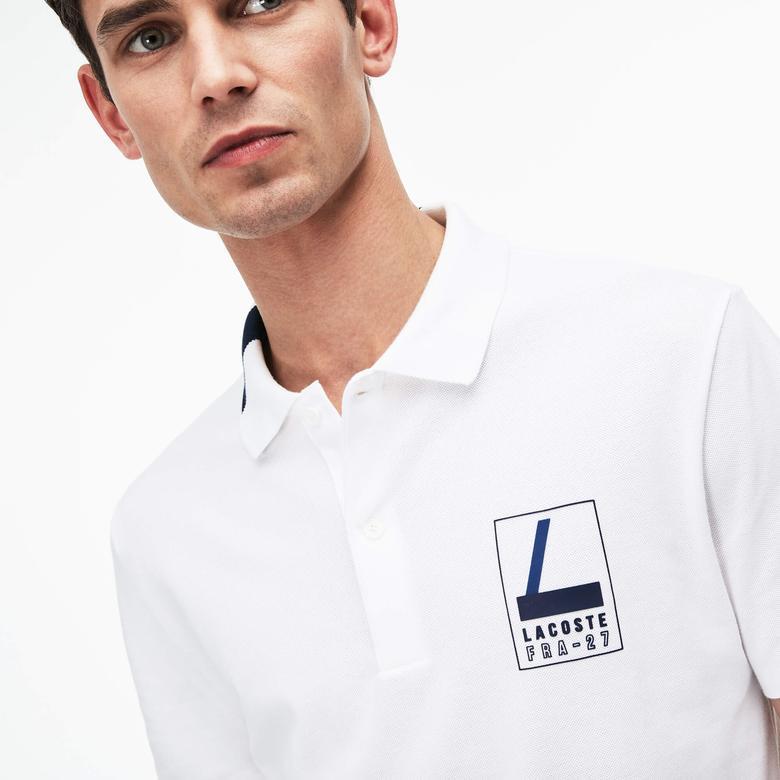 Lacoste Erkek Beyaz Slim Fit Polo