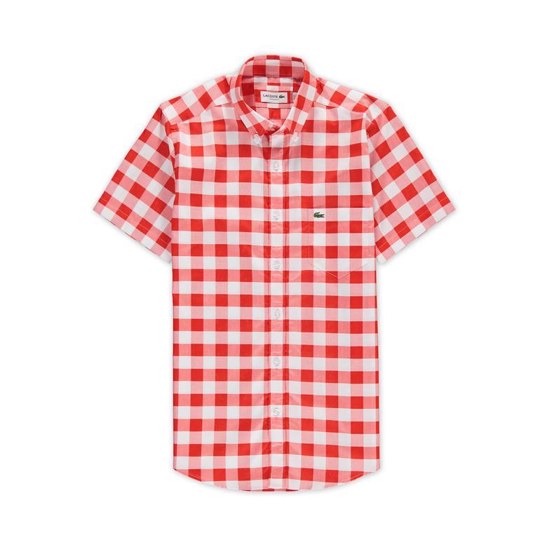 Lacoste Erkek Kırmızı Regular Fit Gömlek