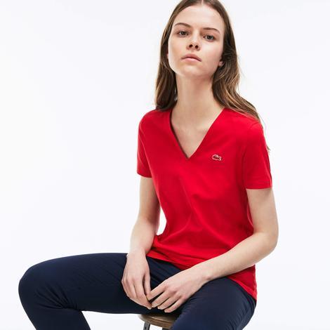 Lacoste Kadın Kırmızı T-Shirt