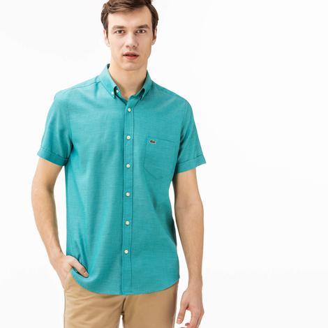 Lacoste Erkek Regular Fit Su Yeşili Gömlek