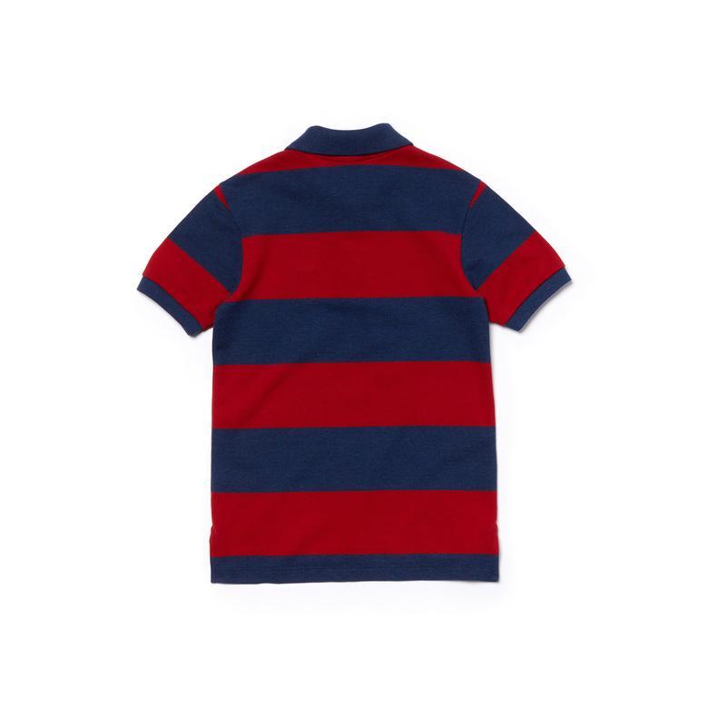 Lacoste Çocuk Mavi-Kırmızı Polo