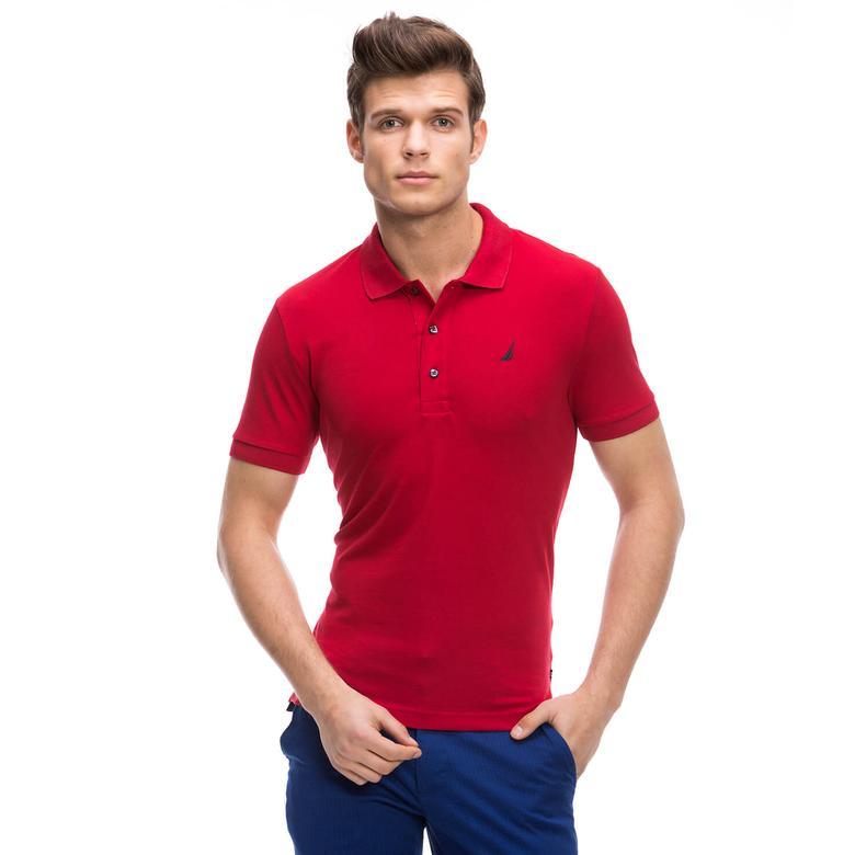 Nautica Erkek Kırmızı Kısa Kollu Slim Fit Polo