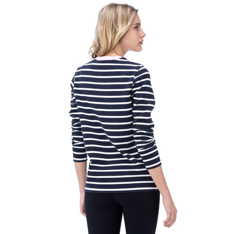 Lacoste Kadın Uzun Kollu Lacivert T-Shirt