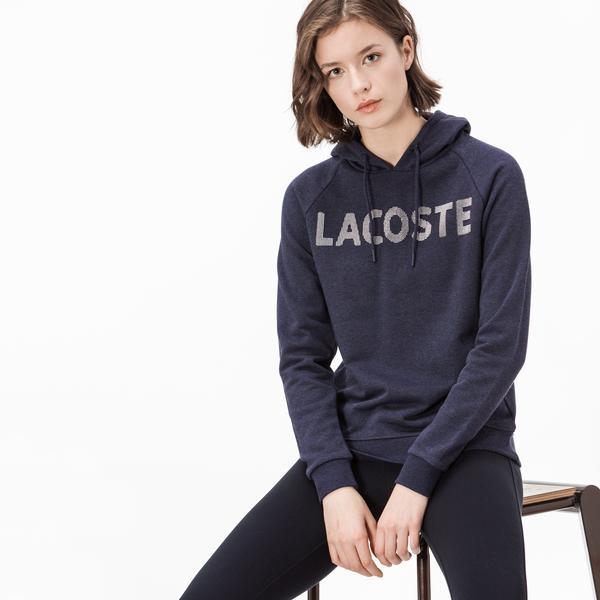 Lacoste Kadın Lacivert Kapüşonlu Sweatshirt
