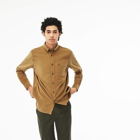 Lacoste Erkek Regular Fit Kahverengi Gömlek