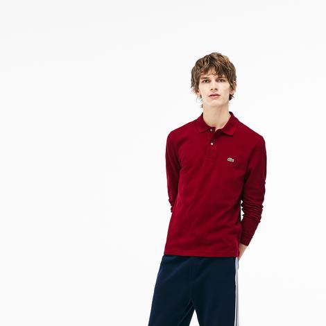 Lacoste Erkek Bordo Regular Fit Uzun Kollu Polo