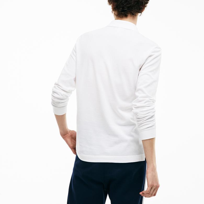 Lacoste Erkek Beyaz Slim Fit Uzun Kollu Polo