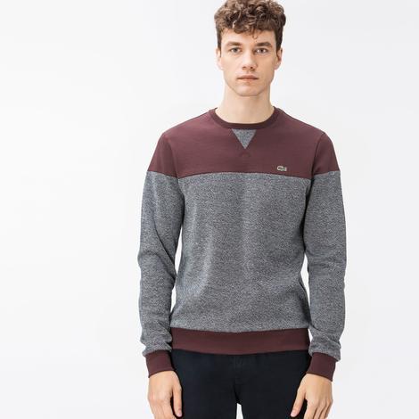 Lacoste Erkek Bordo-Gri Sweatshirt