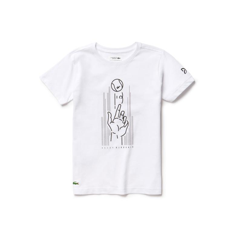 Lacoste Sport Çocuk Beyaz T-Shirt