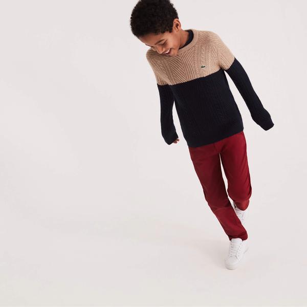 Lacoste Çocuk Koyu Kırmızı Gabardin Pantolon