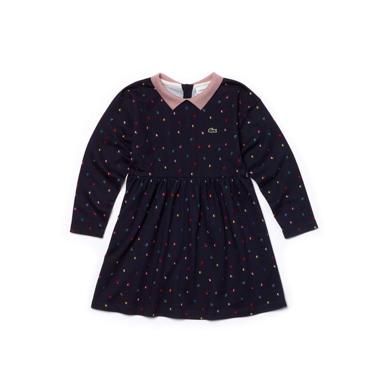 Lacoste Çocuk Renkli Bebe Yaka Elbise