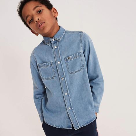Lacoste Çocuk Denim Uzun Kollu Gömlek