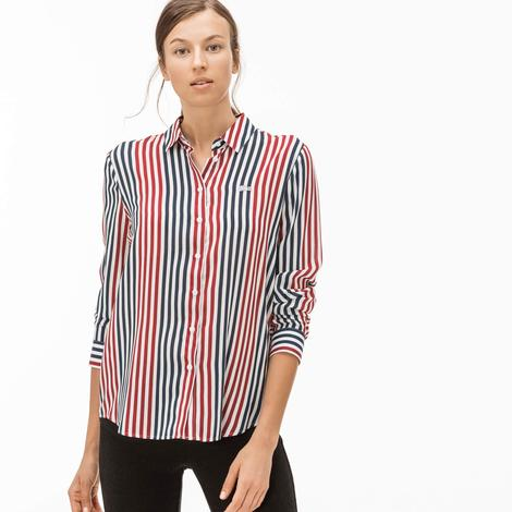 Lacoste Kadın Bordo Gömlek