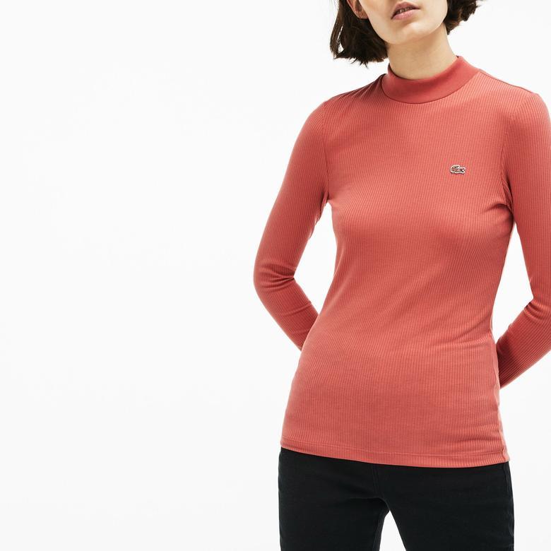 Lacoste Kadın Turuncu Uzun Kollu T-Shirt