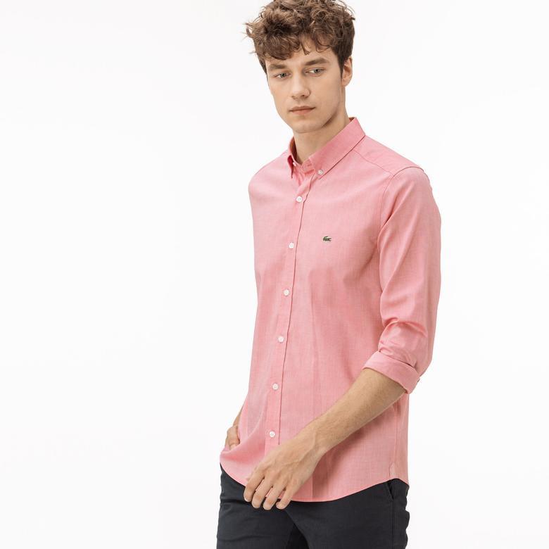 Lacoste Erkek Regular Fit Pembe Oxford Gömlek
