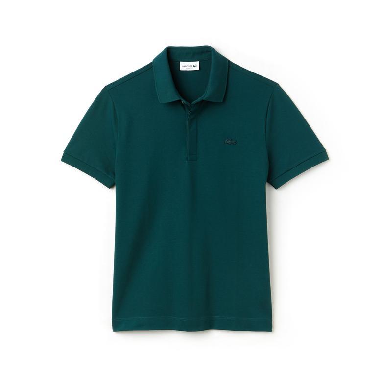 Lacoste Erkek Yeşil Regular Fit Paris Polo