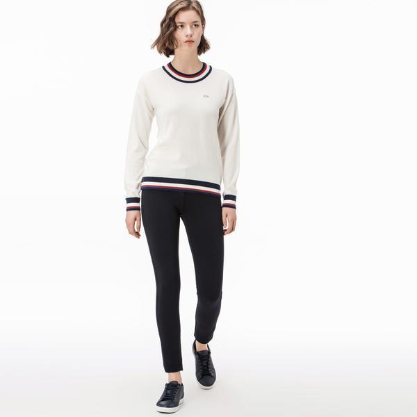 Lacoste Kadın Streç Lacivert Pantolon