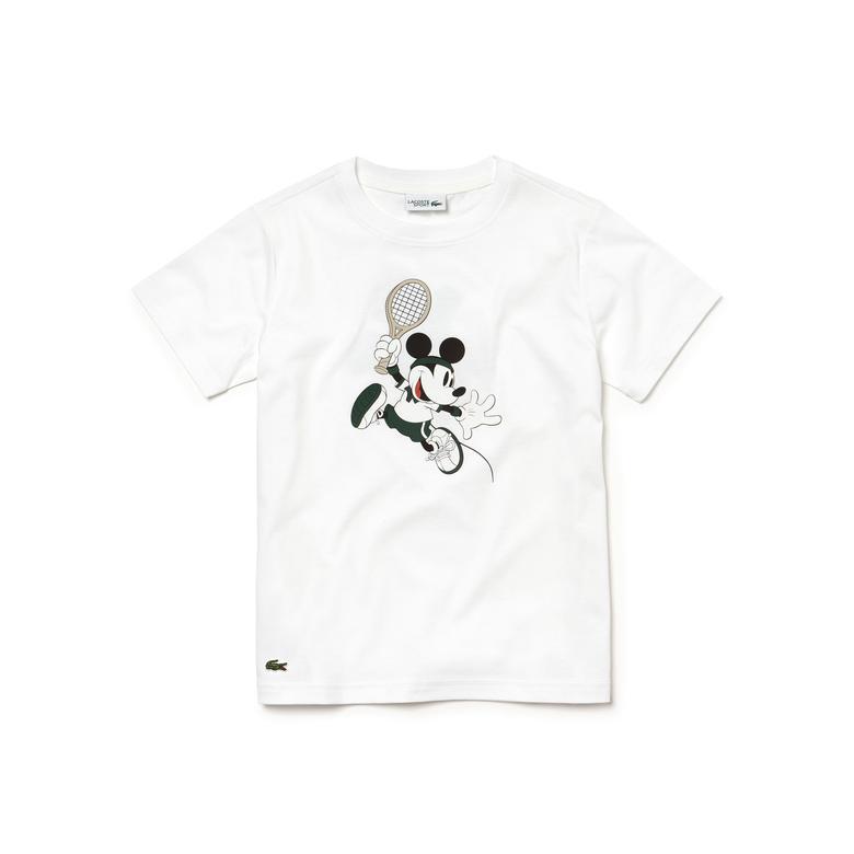 Lacoste x Disney Çocuk Beyaz T-Shirt