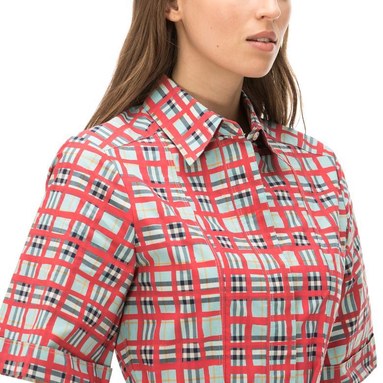 Burberry Kadın Pembe Check Elbise