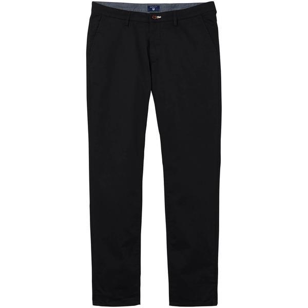 GANT Erkek Siyah Slim Fit Chino Pantolon
