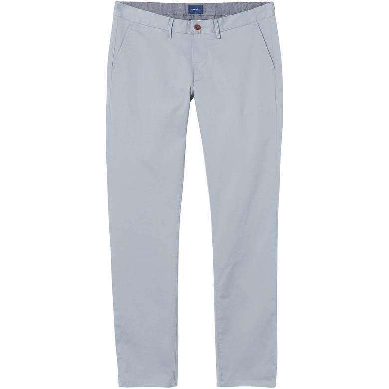 Gant Erkek Twill Slim Fit Gri Chino Pantolon