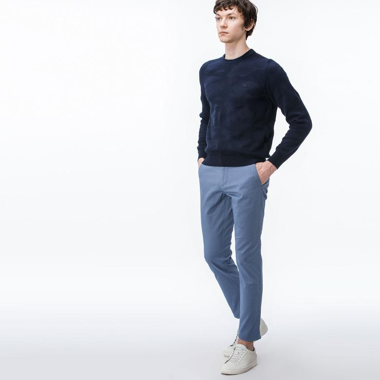 Lacoste Erkek Slim Fit Mavi Chino Pantolon