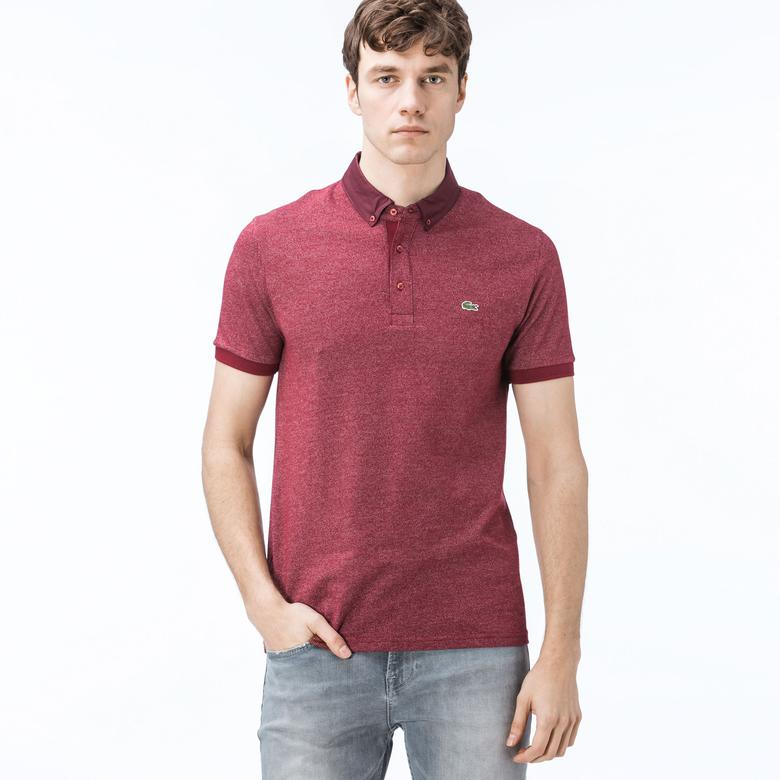 Lacoste Erkek Regular Fit Bordo Polo
