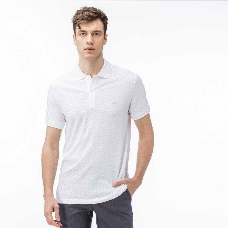 Lacoste Erkek Regular Fit Beyaz Kısa Kollu Polo